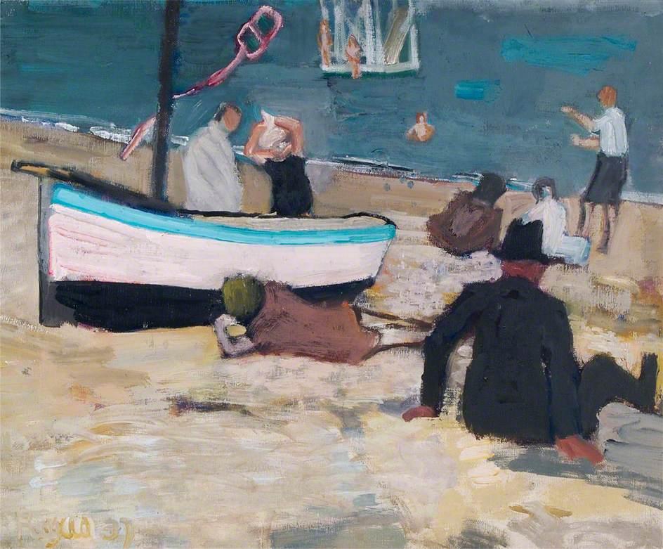 Figures on Aldeburgh Beach, Suffolk
