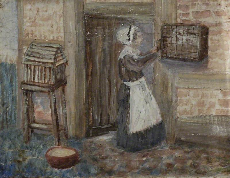 Lady with a Birdcage