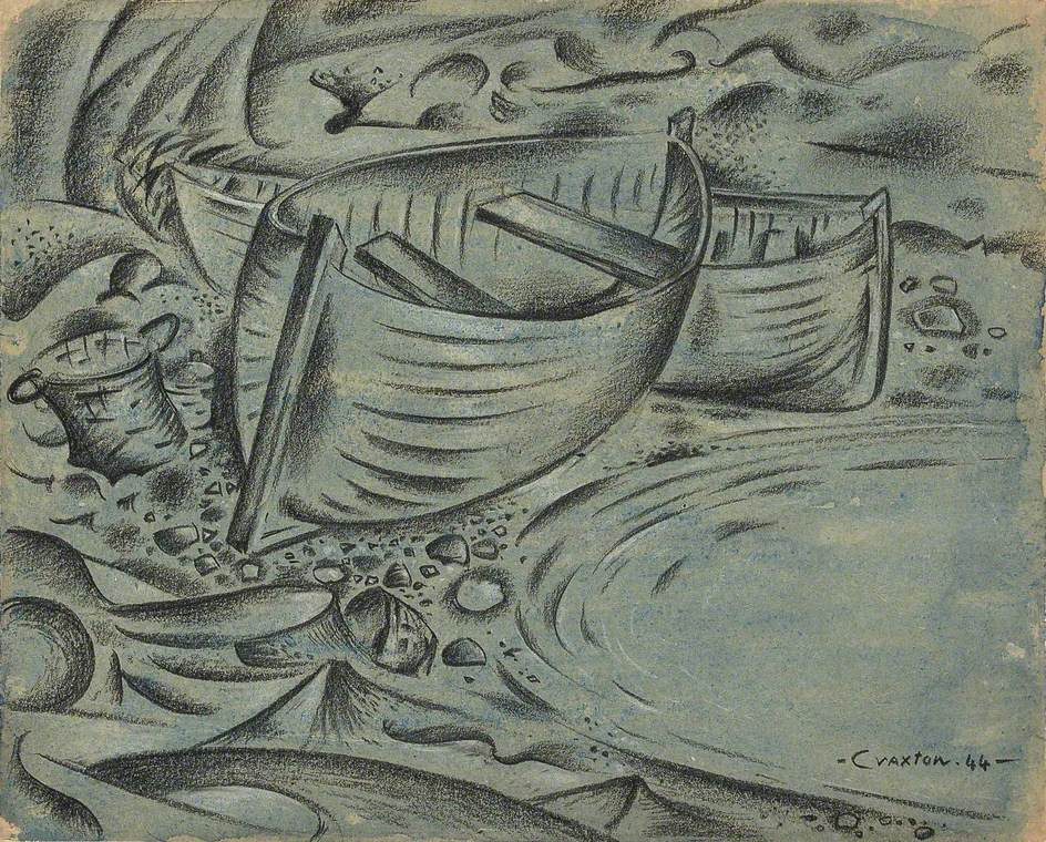Estuary of Old Boats, 1944