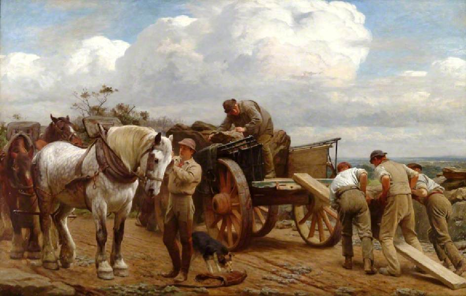 Loading at the Quarry, Holmbury Hill