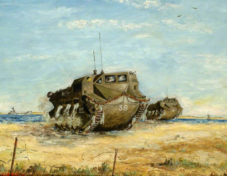 Tracked Amphibian Neptunes, Kabrit, Little Bitter Lake, Egypt, 1947