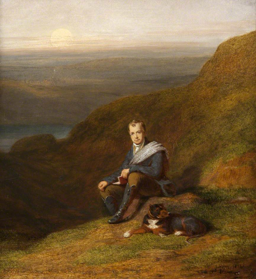Sir Walter Scott with a Dog