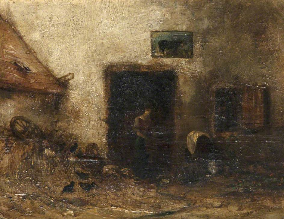 Woman by a Cottage Door