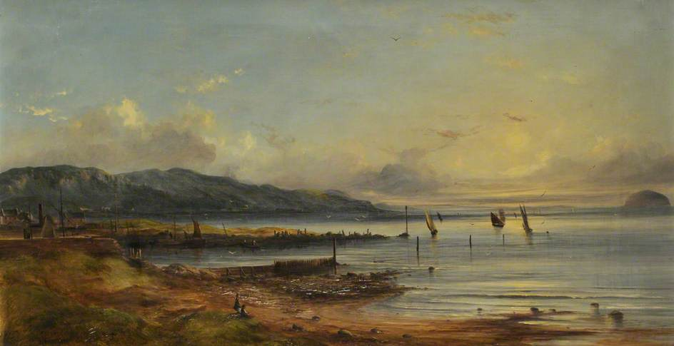Girvan Harbour and Bay, 1870
