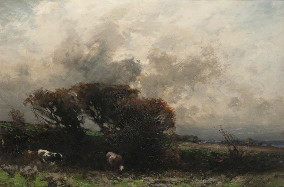 Cattle in a Stormy Landscape