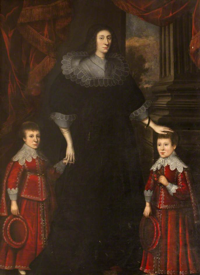 Lady Elizabeth Maxwell with Her Two Sons