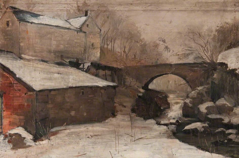 Winter Scene with a Bridge and a Mill (Craigmill)