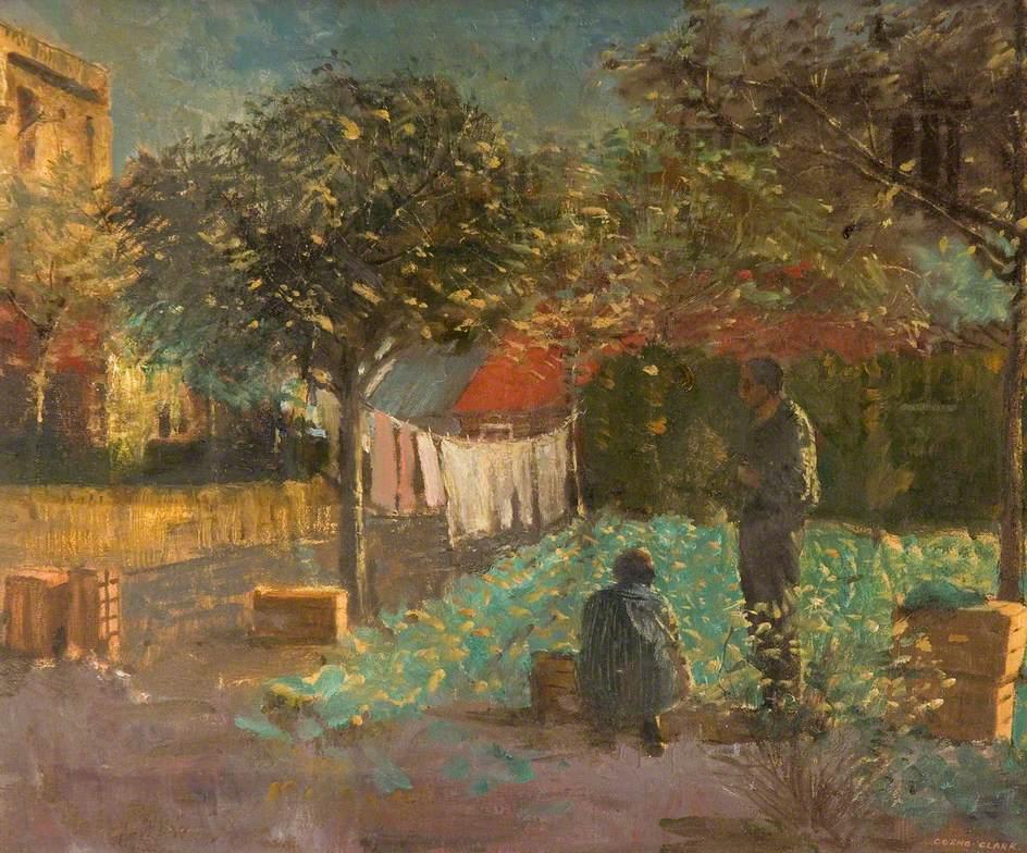 Evening Light in a Spanish Garden