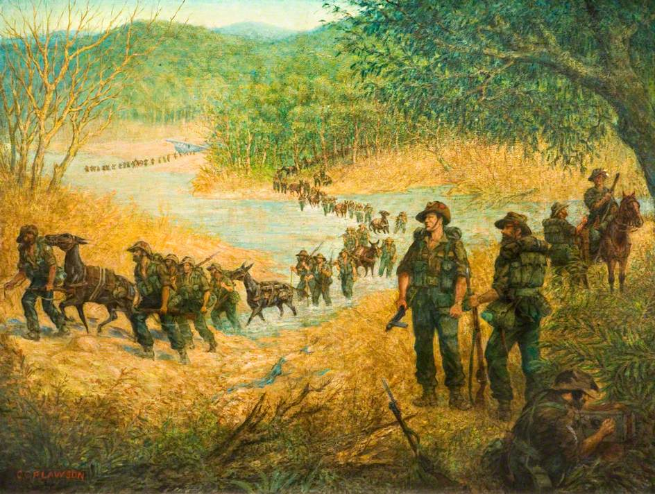 1st South Staffords on the March in Burma, 1944