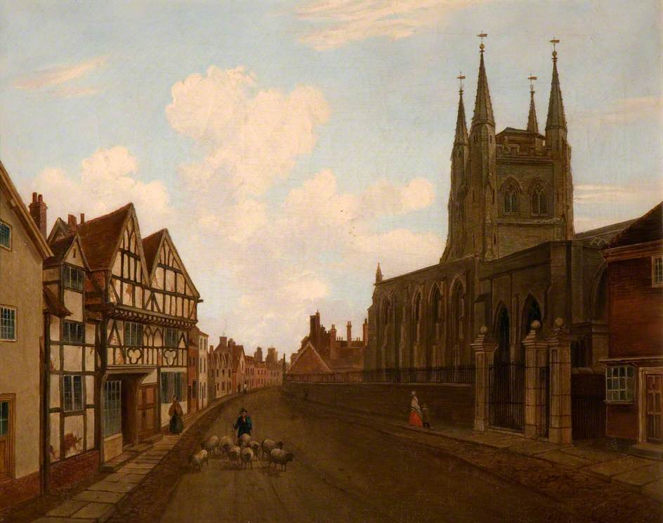 St Editha's Church and the Old Paregoric Shop, Tamworth