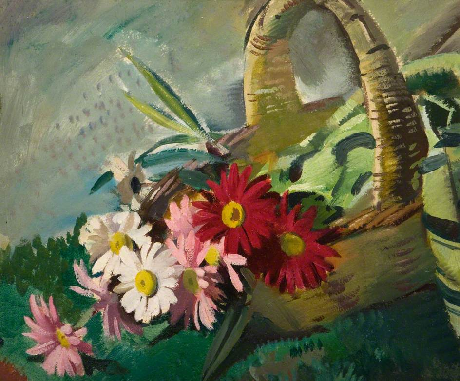 Still Life with Pyrethrums: Study for 'Amity'