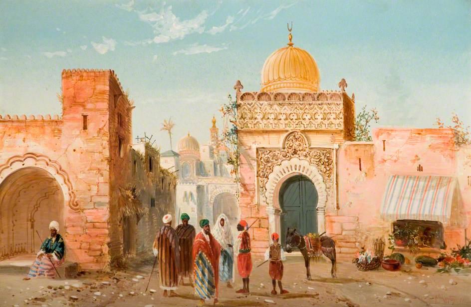 Arabian Village Scene