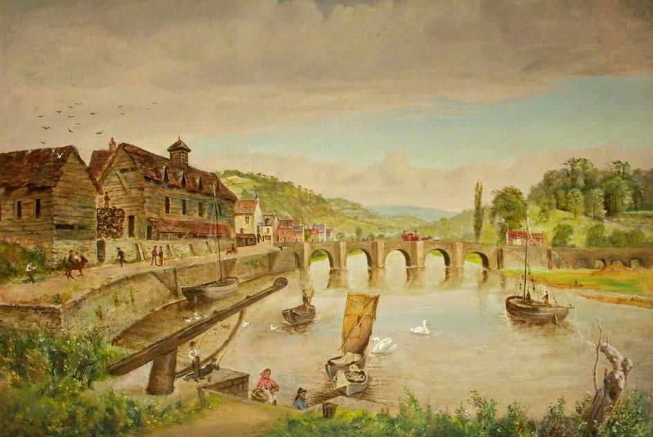 Wye Bridge and the Bark House, Monmouth