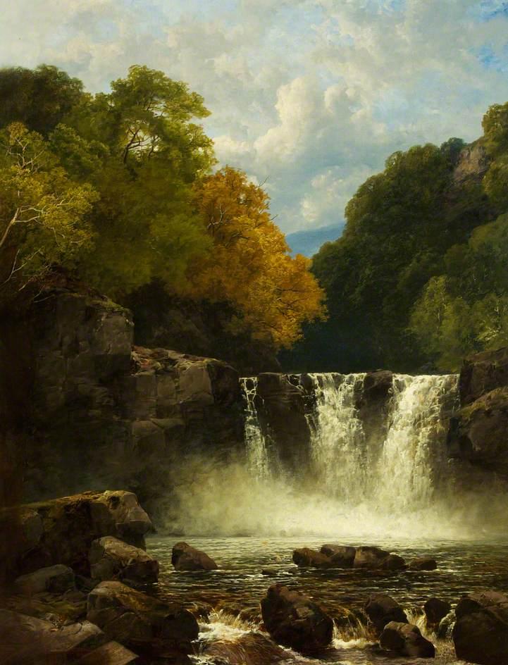 The Falls of Dulais, c.1870