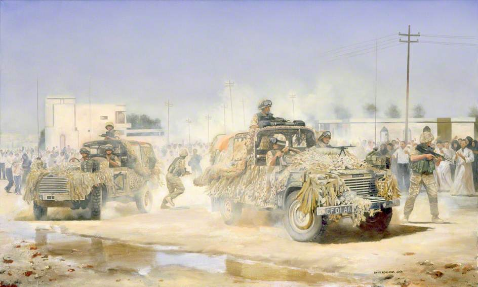 B Squadron, 1st The Queen's Dragoon Guards at Safwan, Iraq
