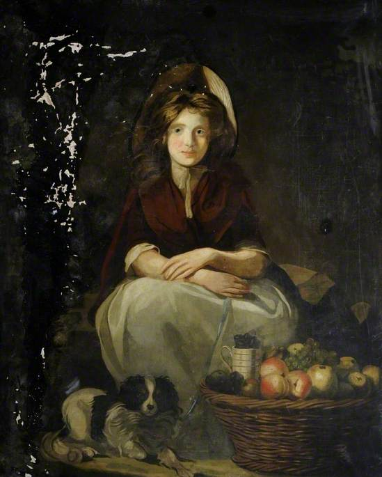 Girl with a Dog and Fruit