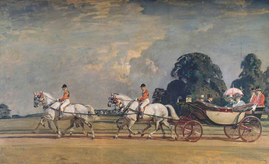Their Majesties' Return from Ascot