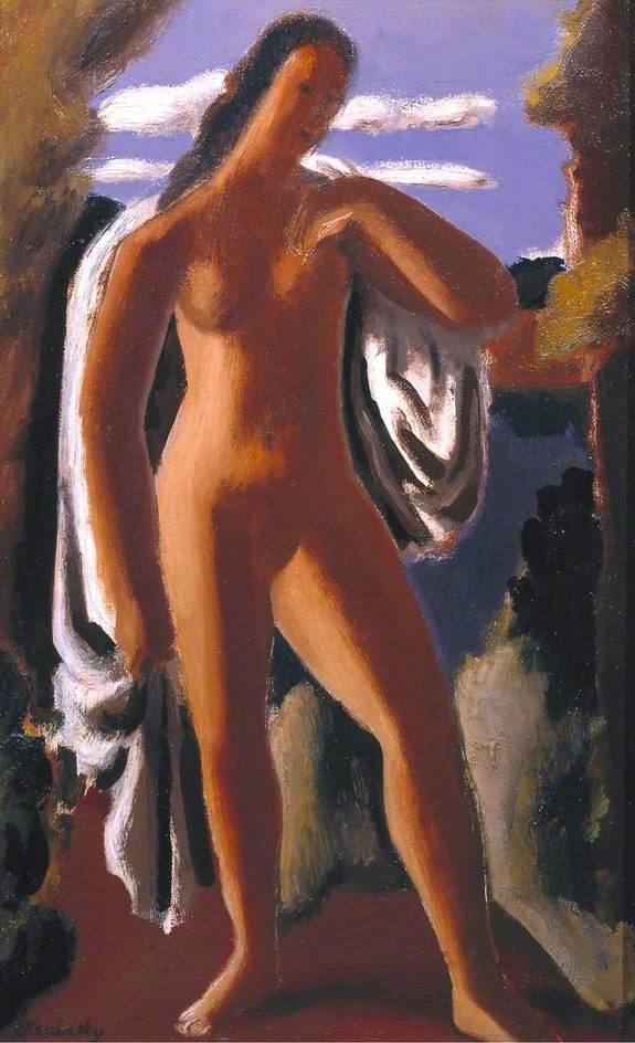 Standing Female Nude in a Landscape