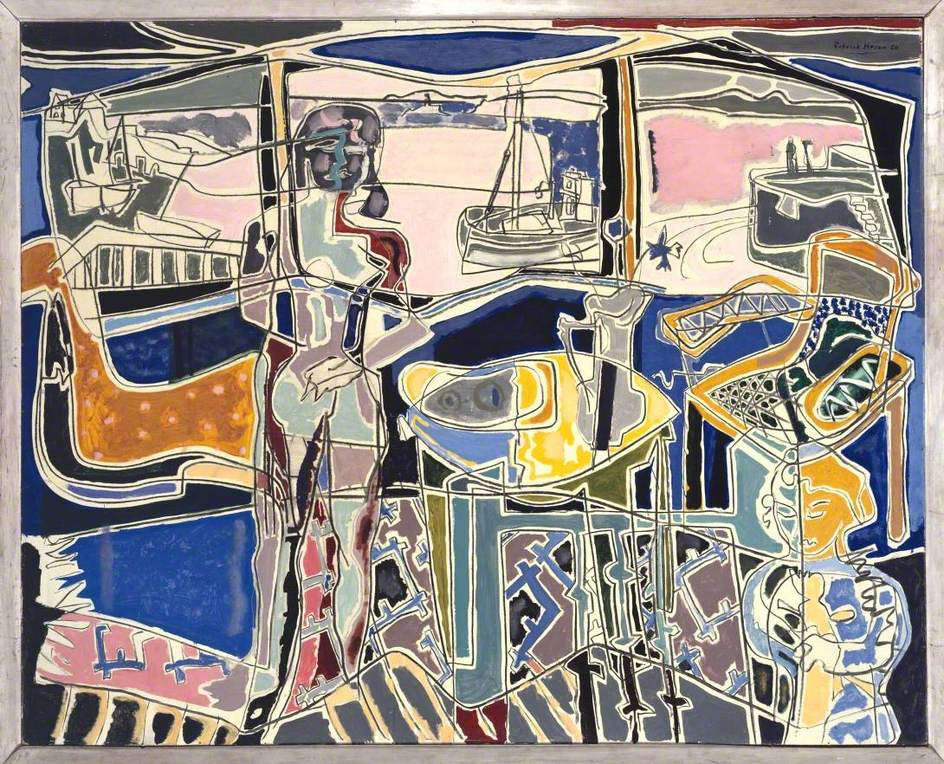 Harbour Window with Two Figures, St Ives: July 1950