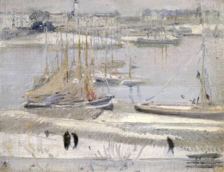 Harbour in Snow, La Rochelle