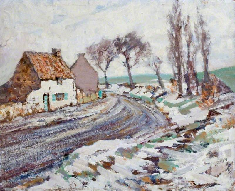 Cottage Lane in Winter