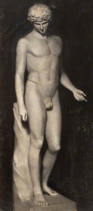 Oil Study of a Statue of Antinous