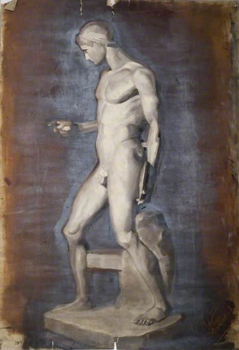 Oil Study of a Sculptured Figure