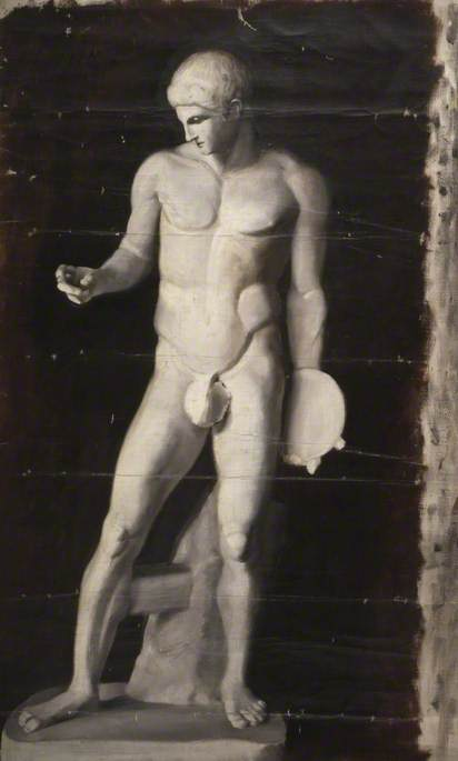 Oil Study of Statue with Discus
