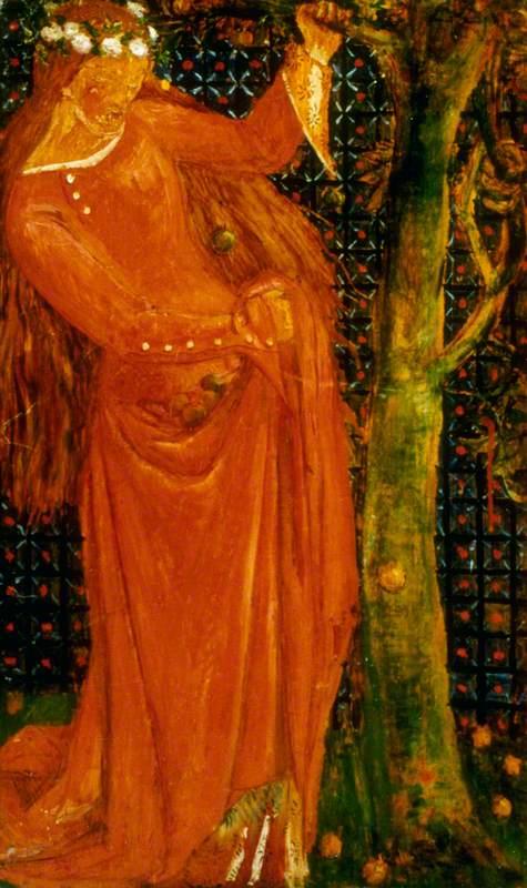 Woman Gathering Fruit