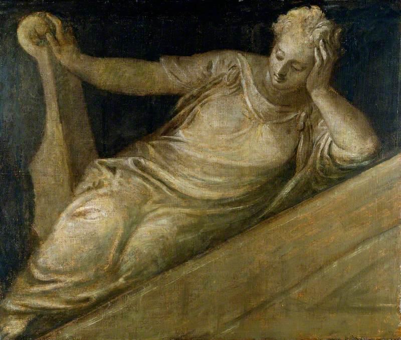 An Allegorical Female Figure: Music (?)