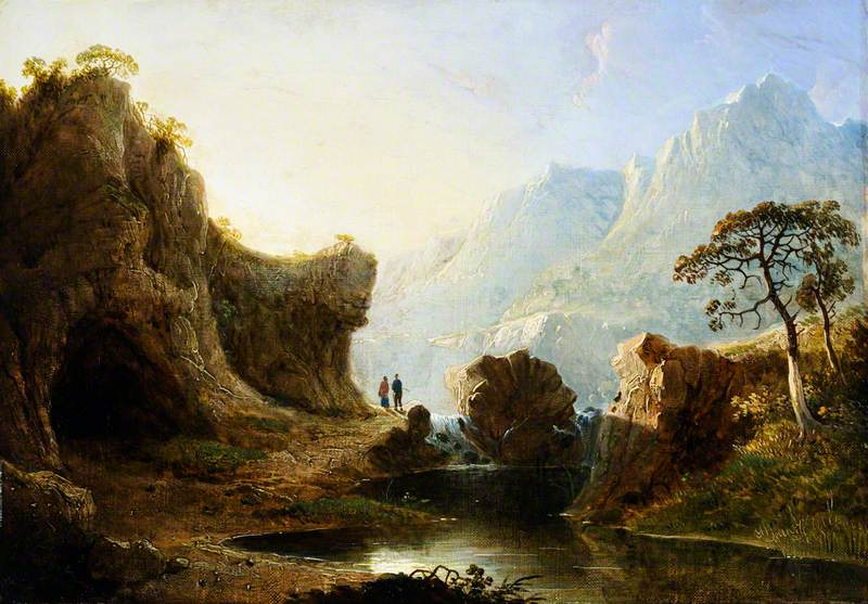 Mountain Landscape with Rocks