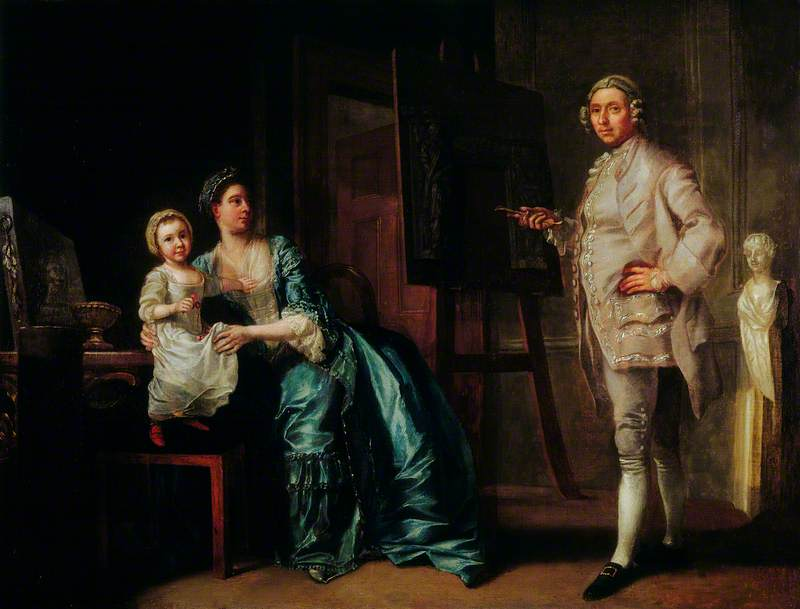 The Sculptor Joseph Wilton (1722–1803), with His Wife and Daughter