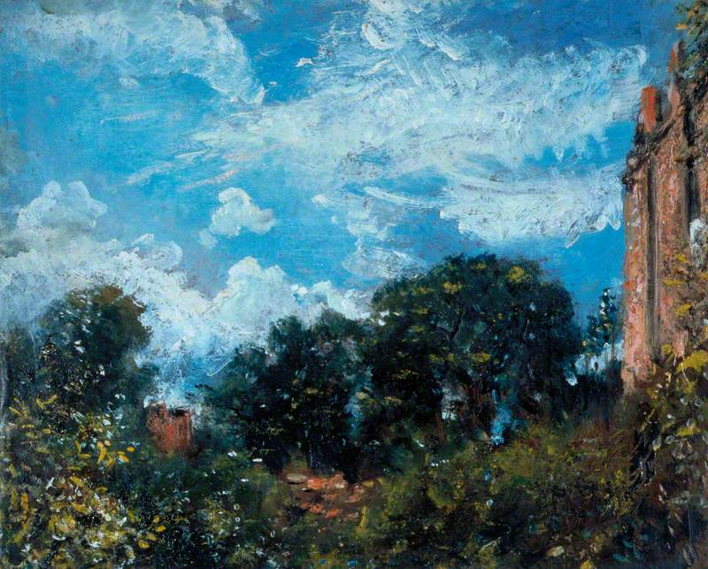 Study of Sky and Trees with a Red House, at Hampstead
