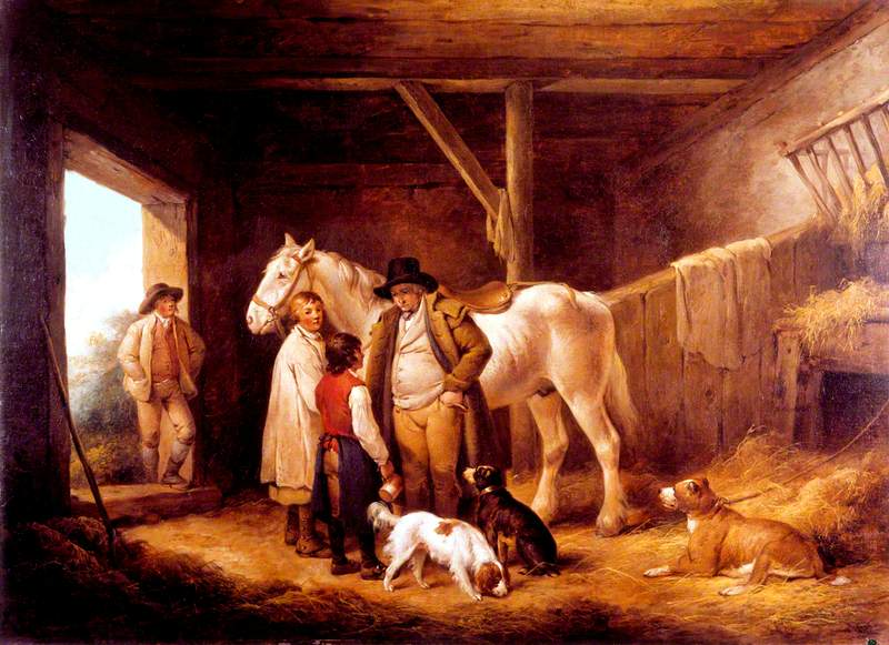 The Reckoning: A Farmer Paying the Ostler and Pot-Boy of an Inn