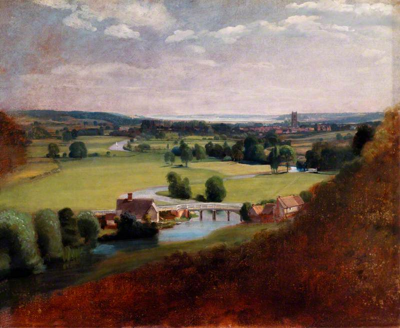 The Valley of the Stour with Dedham in the Distance