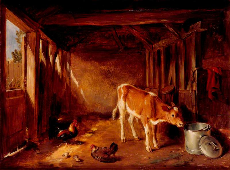 Interior of a Cattle Shed