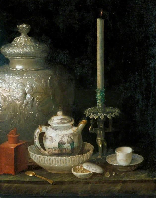 Teapot, Ginger Jar and Slave Candlestick