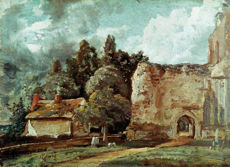 East Bergholt Church: The Ruined Tower at the West End