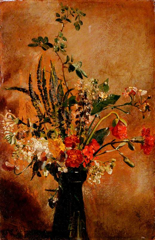Study of Flowers in a Hyacinth Glass