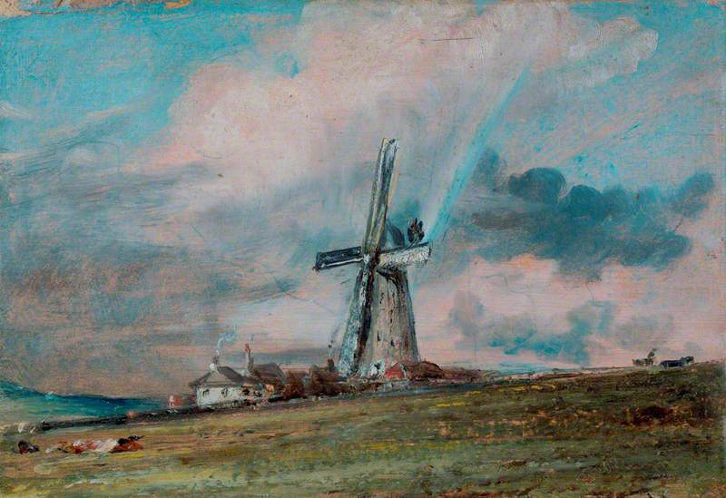 A Windmill on the Downs near Brighton