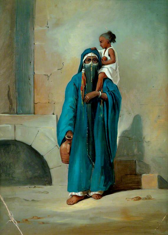 An Egyptian Fellahah with Her Child