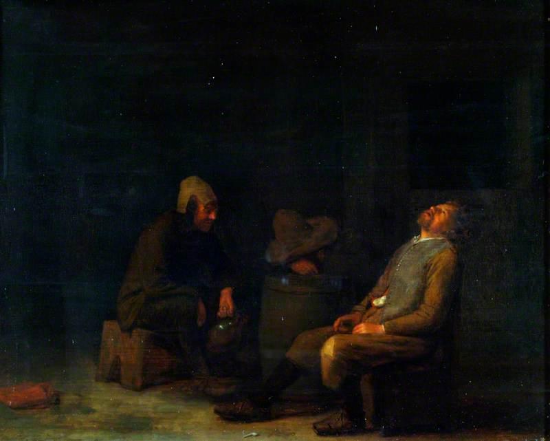 Three Peasants Seated