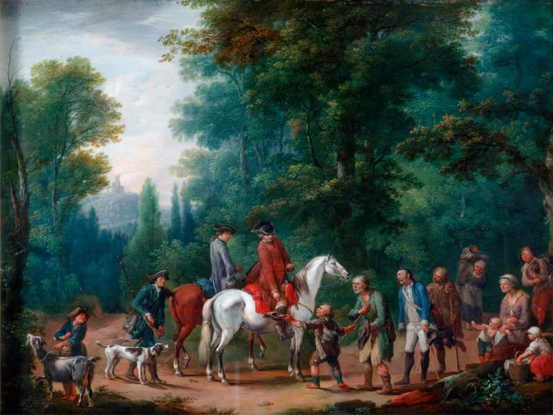 Landscape with Huntsmen and Beggars