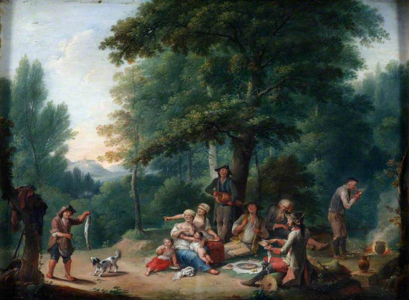 Landscape with Peasants Regaling Themselves in a Wood
