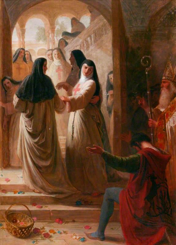 Scene from Alexander Pope's 'Eloisa to Abelard'