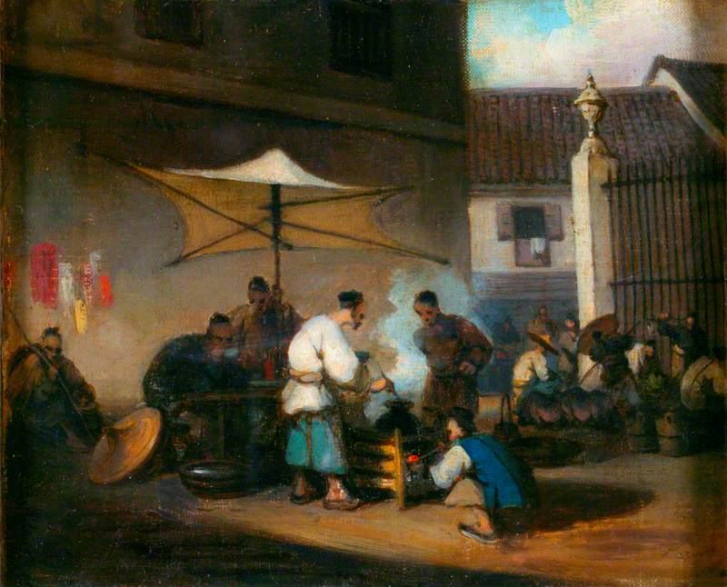 Chinese Street Scene at Macao