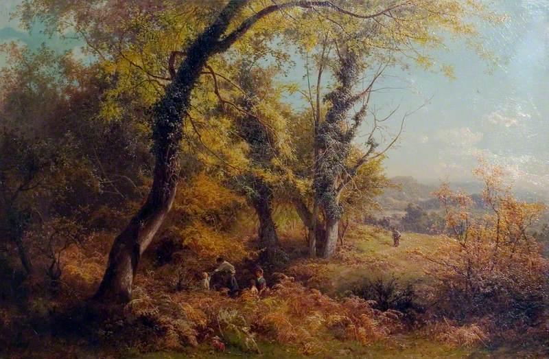 October in Surrey: Children Nutting