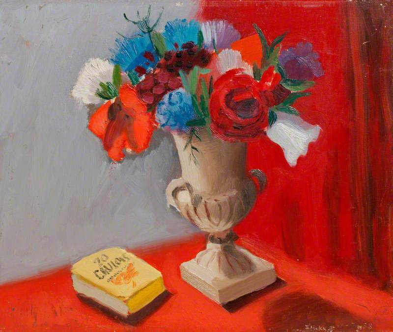 Still Life: Anemones and Gauloise Cigarettes