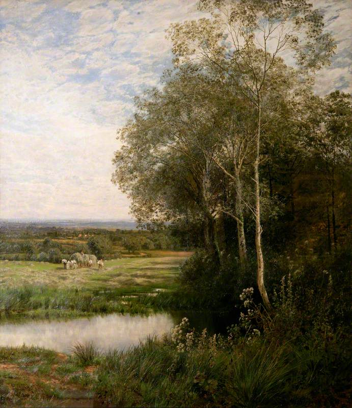 'Where the Waters Gently Pass', Landscape with a Stream