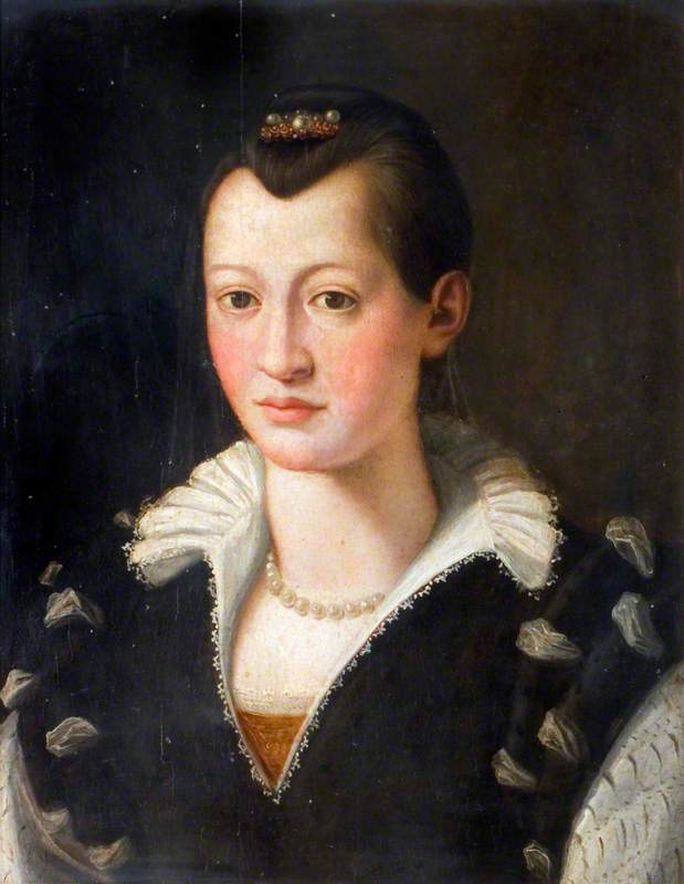 Portrait of a Lady in a Black Dress